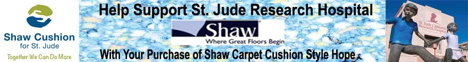 Suppport St Jude Research Hospital Shaw Carpet Cushion Hope