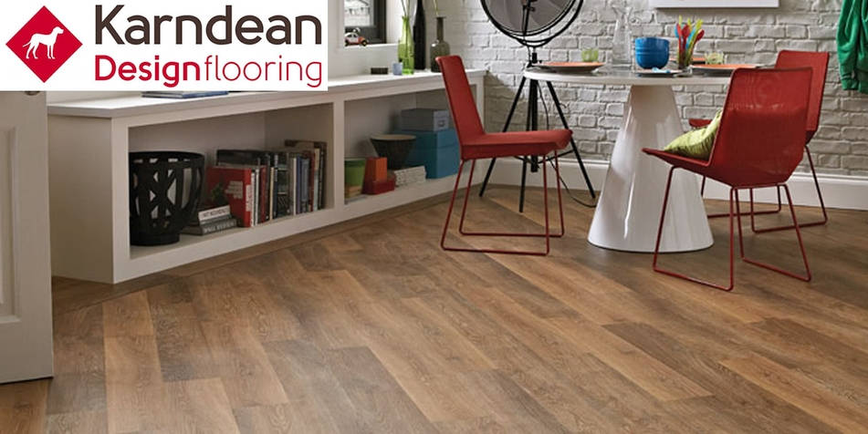 Luxury vinyl planks and tiles by Karndean.